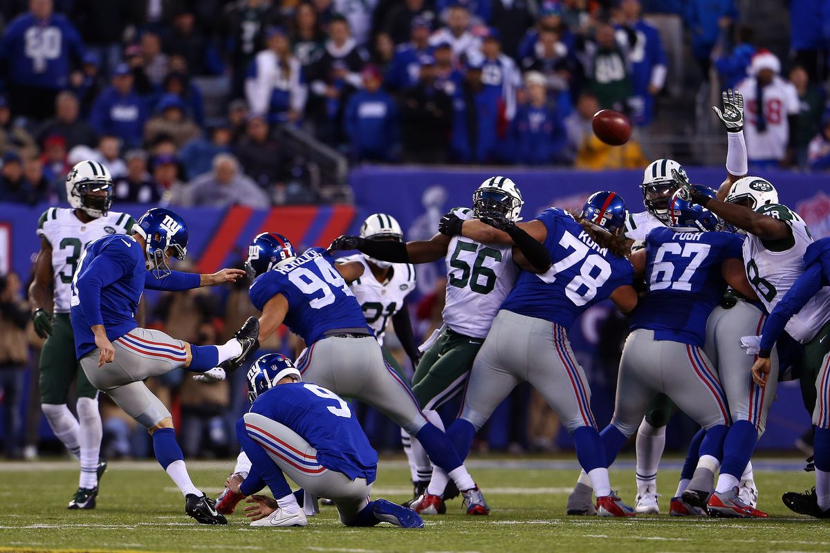 Josh Brown misses a field goal in overtime on Sunday