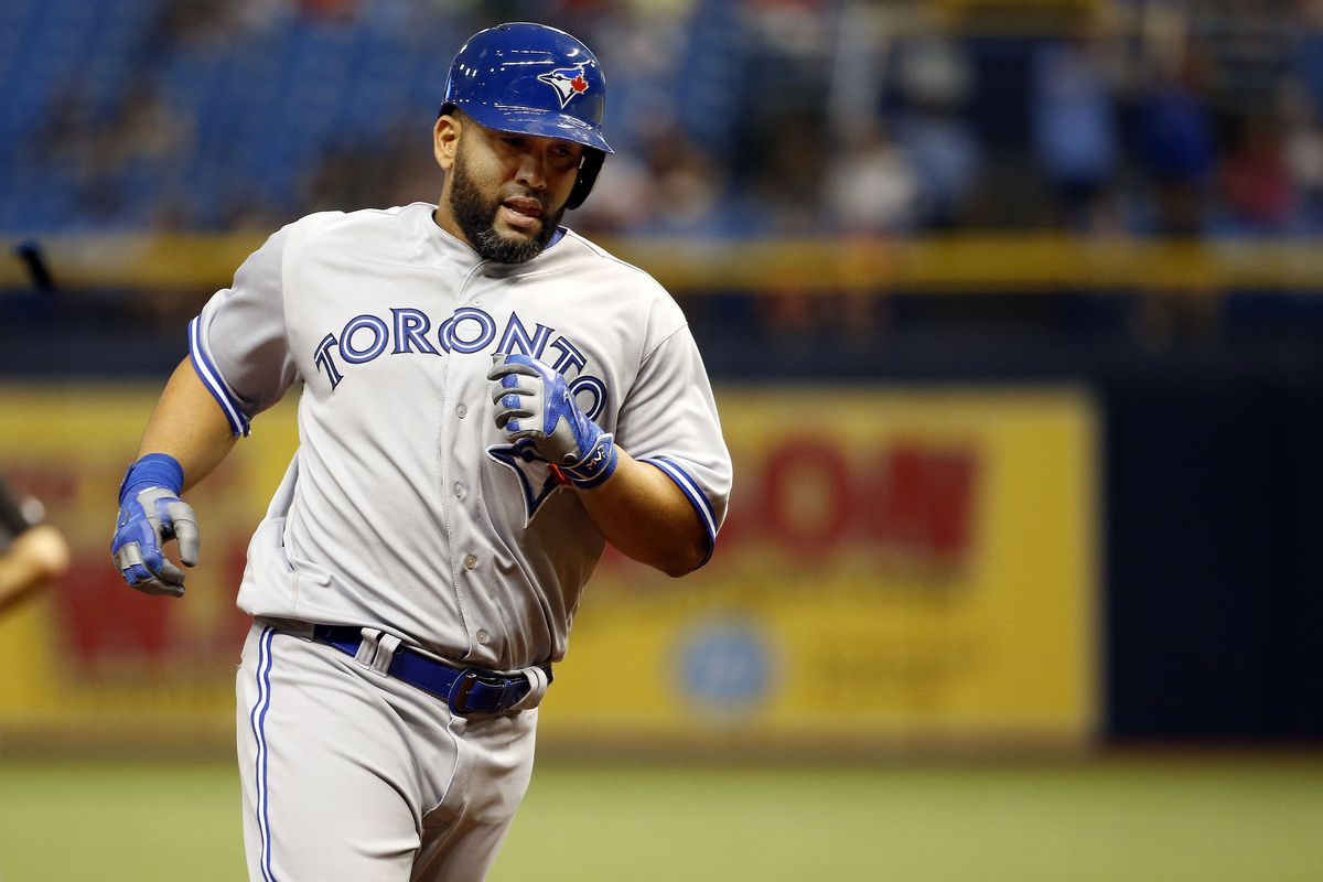 Morales hit his first home run as a Blue Jay in dramatic fashion