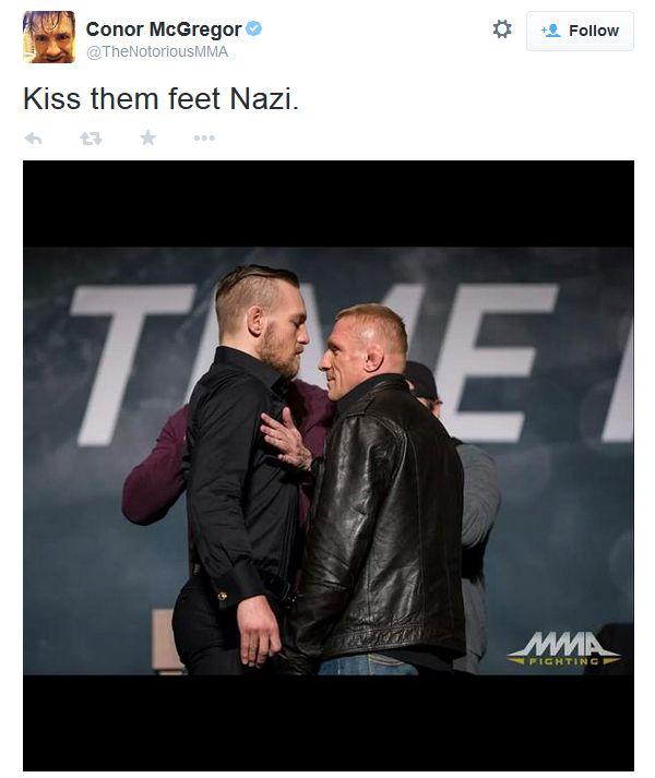 Conor McGregor deleted nazi tweet
