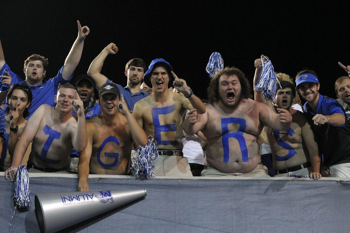 Fans celebrate a Memphis win