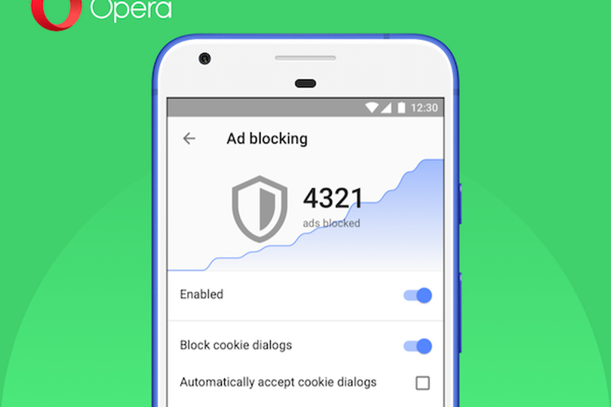 Opera will block those annoying cookie dialog boxes on its