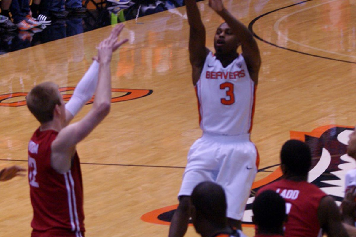 Ahmad Starks became Oregon St.'s career leader in 3 point baskets last week in Seattle. The Beavers could use some more to beat the Cardinal, who won with a slew of 3 pointers in the team's first meeting this season.