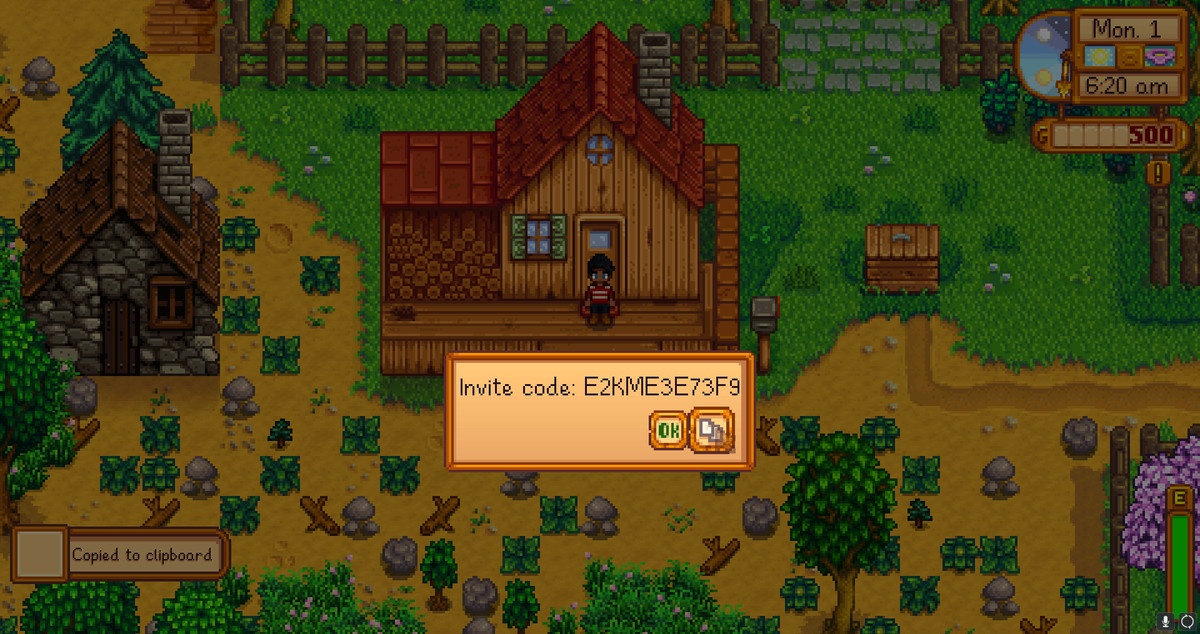 Stardew valley multiplayer code not working