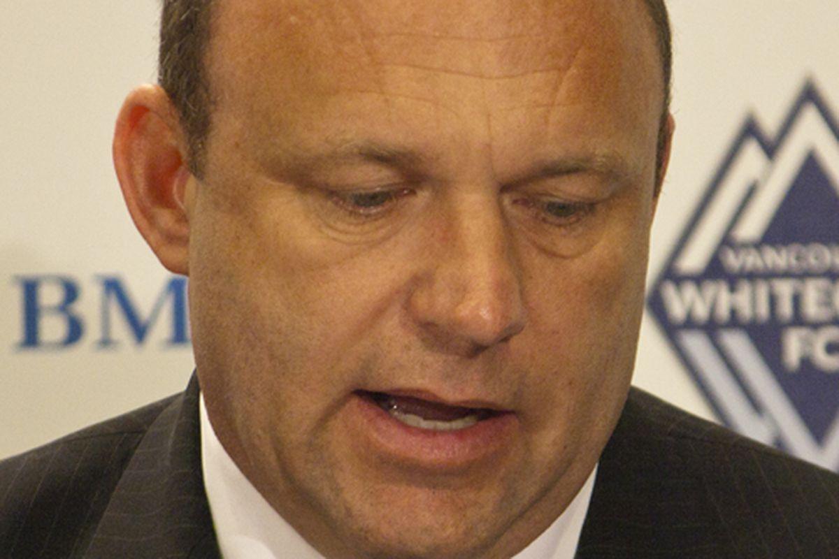 Tom Soehn, interim head coach of the Vancouver Whitecaps. (Benjamin Massey/Eighty Six Forever)