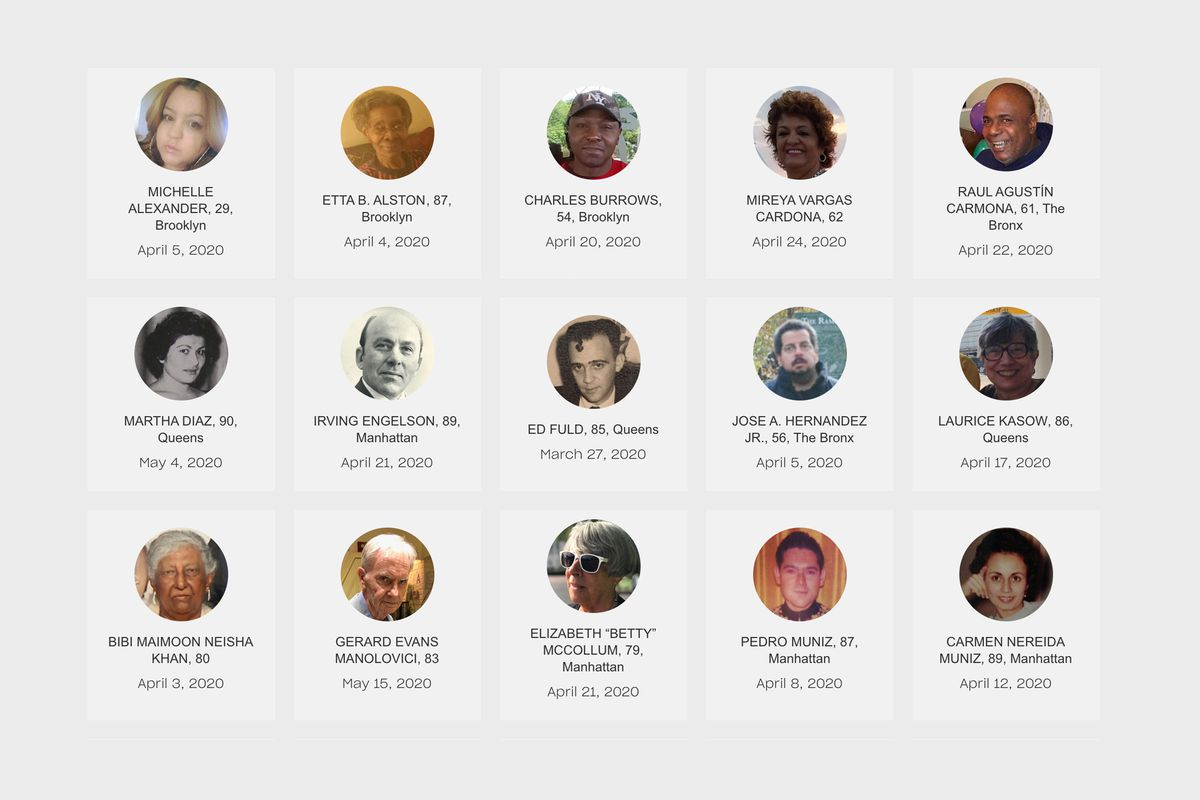 Some of the New Yorkers who have passed away from the COVID-19.