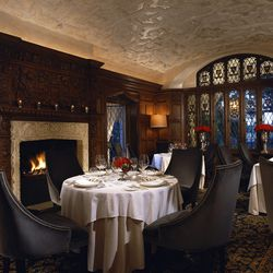 From the valet lot full of Bentleys and Porsches to the plush dining chairs and gorgeous flatware, every square inch of The Mansion on Turtle Creek screams old money—particularly The Library, with its dark wood paneling and fireplace. A favorite des