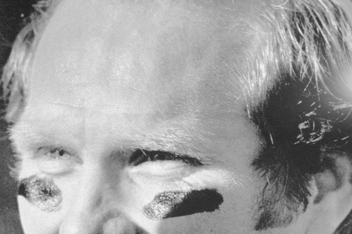 Football Player Terry Bradshaw Smiling on Sidelines