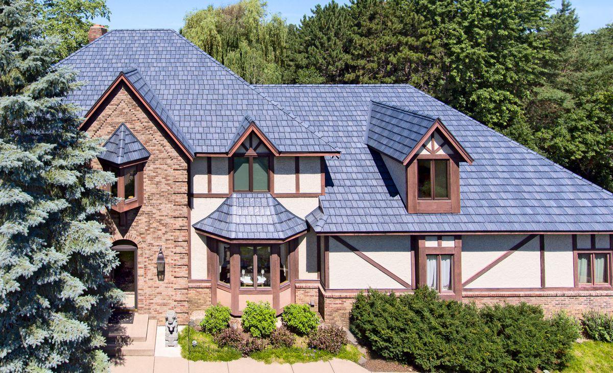 slate look metal roof, July/Aug 2020