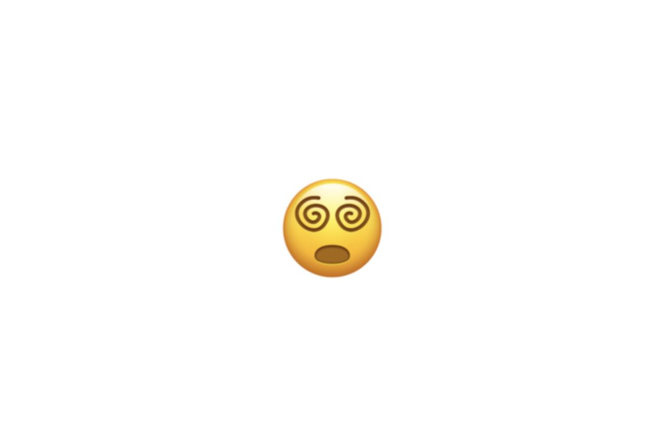 spiral eyes emoji
