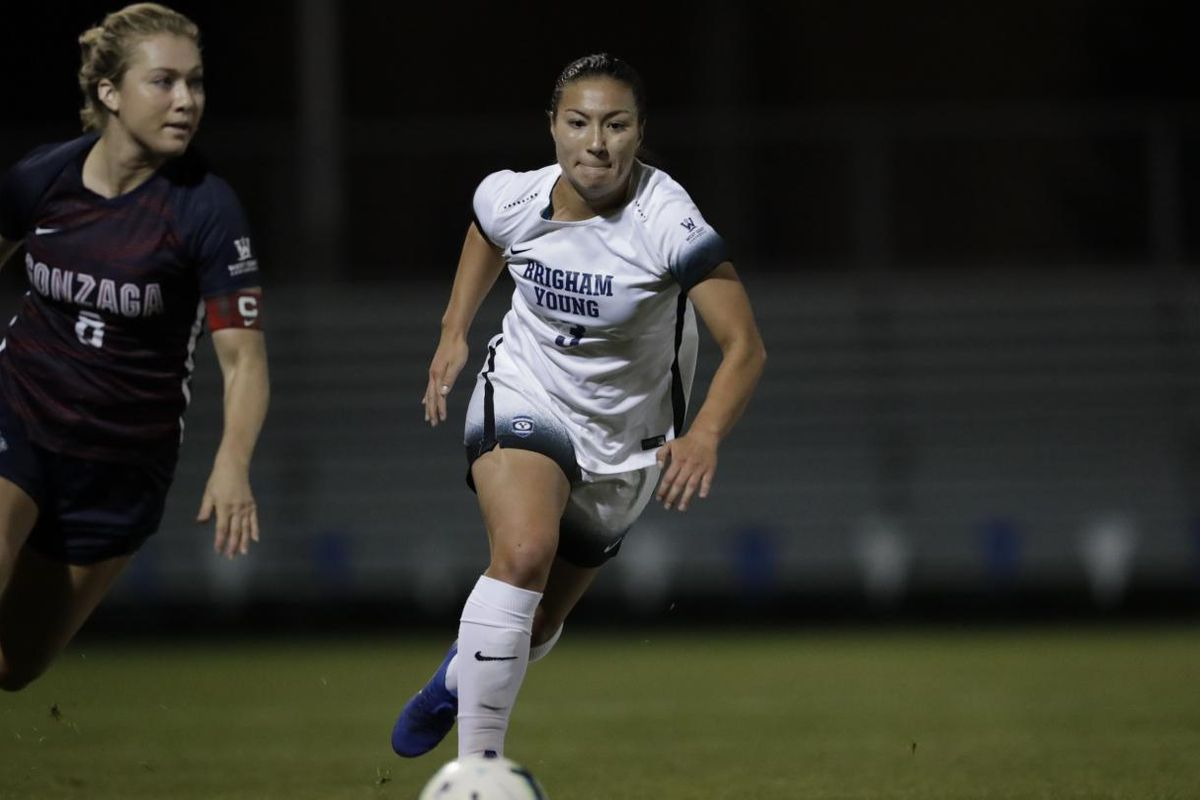 huge discount c122e 6cd87 BYU soccer: Makaylie Moore leads BYU to 3-1 win at Saint ...