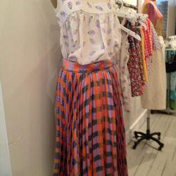 Top, $50. Skirt, $60