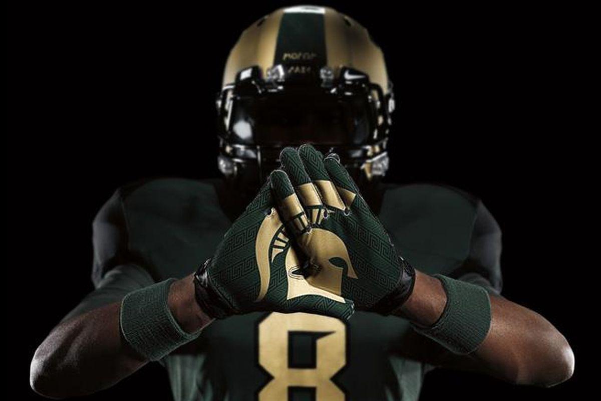 Michigan State will wear its Nike Pro Combat uniforms Oct. 15 vs. Michigan.