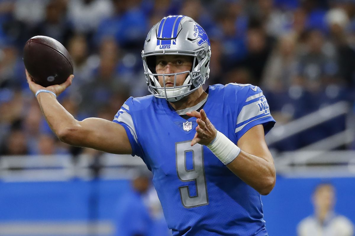 Lions quarterback Matthew Stafford throws against the Giants during a game last month.