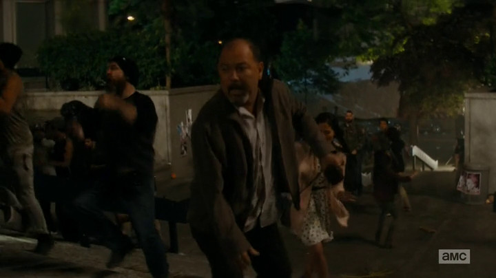 Fear the Walking Dead cuts to wider shots in action sequences.
