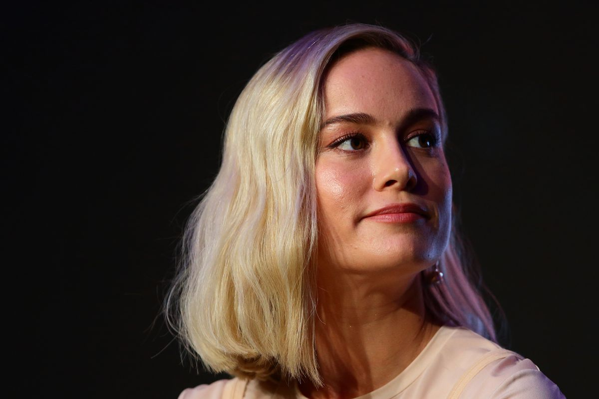 SINGAPORE - FEBRUARY 14: Brie Larson attends the press conference for 'Captain Marvel' at Marina Bay Sands Expo and Convention Centre on February 14, 2019 in Singapore.