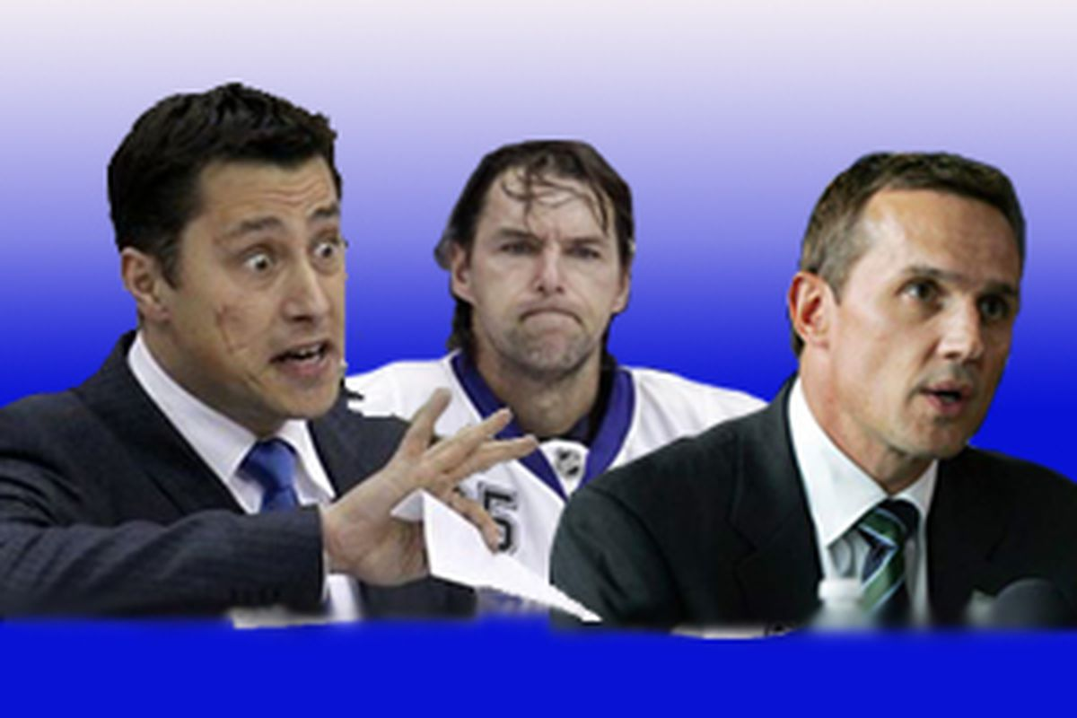 Who is to blame for the Lightning's disappointing season - Coach Guy Boucher, goalie Dwayne Roloson or GM Steve Yzerman?