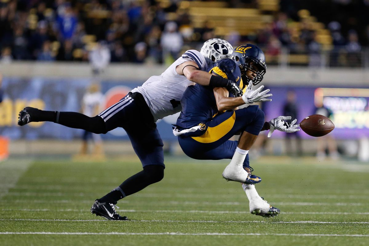 Skye PoVey breaks up a pass against the Cal Bears