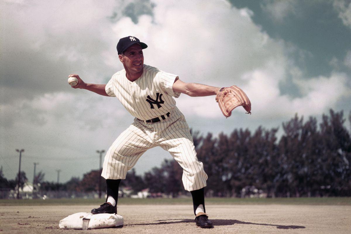 Phil Rizzuto Throwing Baseball
