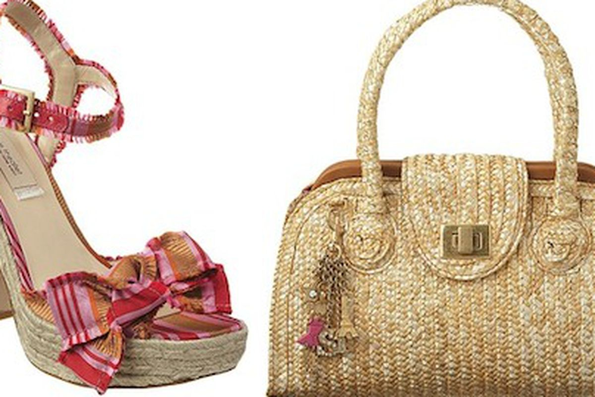 A shoe and bag from the Sophie Theallet for Nine West collaboration