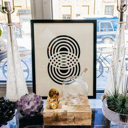 <b>Jon McCoy</b>  amethyst and smokey black quartz crystal votive holders, $345 each