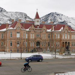 Photo of the Brigham Young Academy building at 550 N. University Ave. in Provo on Jan. 2, 2008. The building was renovated and is now the Provo City Library at Academy Square.