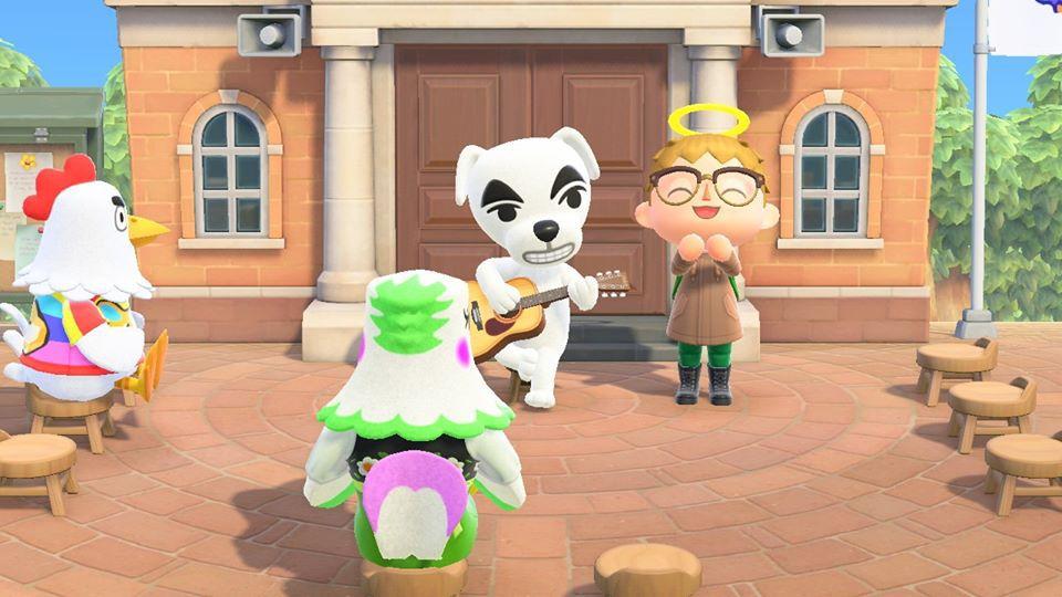 KK Slider performs in Animal Crossing New Horizons