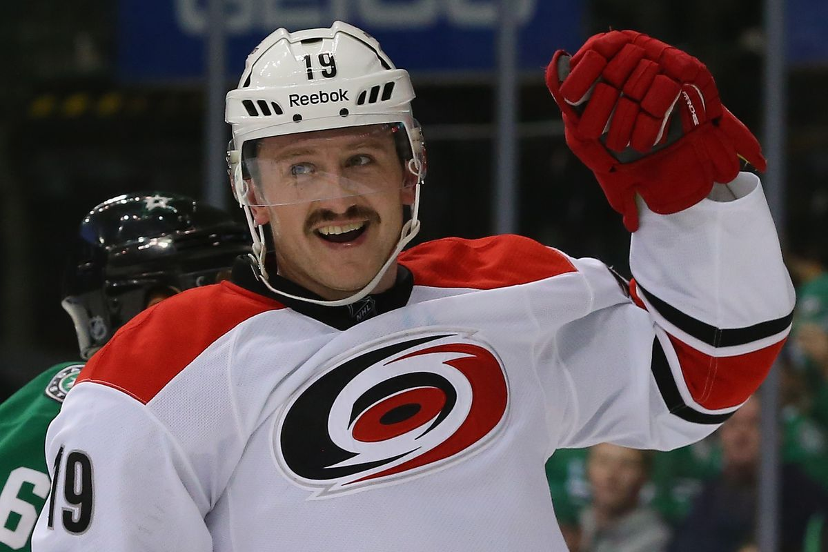 Jiri Tlusty and the Canes had something to smile about after their 6-4 win in Dallas.