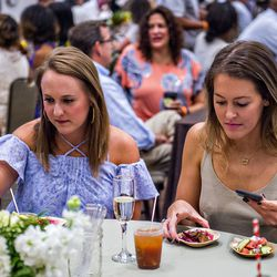 A small sample of the bites and drinks available during the Atlanta Food & Wine Festival.