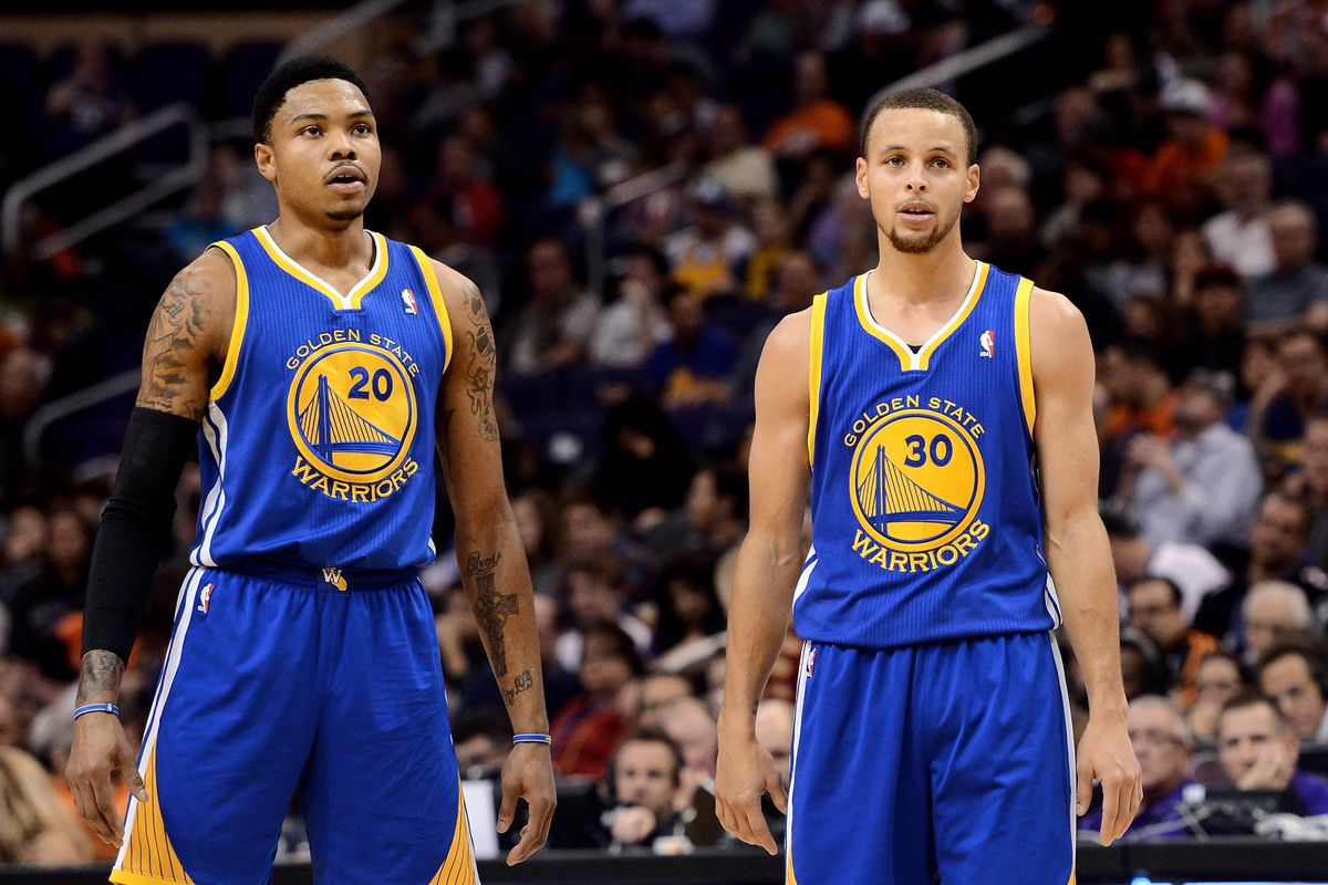 Kent Bazemore and Stephen Curry in 2013