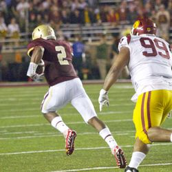 Antwaun Woods is not going to catch Tyler Murphy from behind. Touchdown BC.