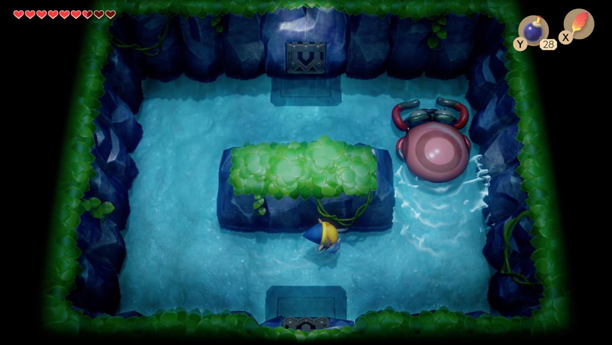 Link's Awakening Angler's TunnelCue Ball mini-boss fight