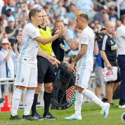 August 4, 2019 - Saint Paul, Minnesota, United States - Minnesota United midfielder Robin Lod (16) is subbed on for the first time during the match against Portland Timbers at Allianz Field.