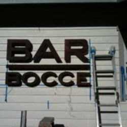 Bar Bocce sign is up.
