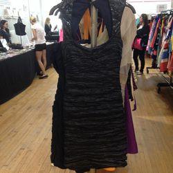 Nicole Miller Square Neck Sequin Shoulder Dress, $42