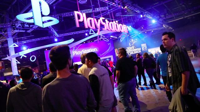 A scene from PlayStation Experience 2014.