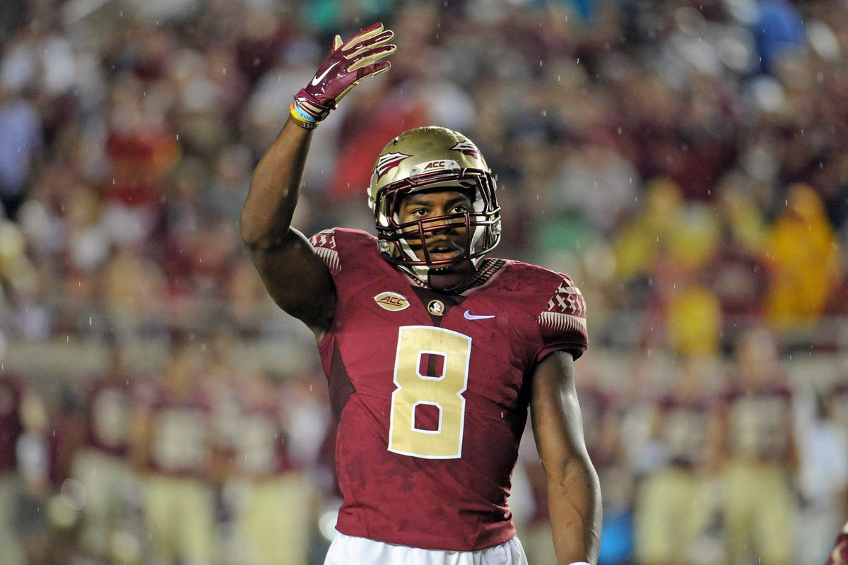 watch 6baf5 9e237 Jalen Ramsey switches to Charlie Ward's No. 17 jersey for ...