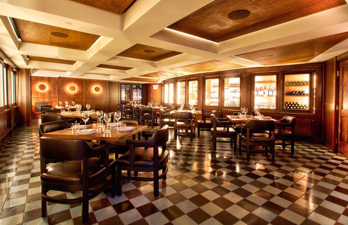 The wine room at Majordomo