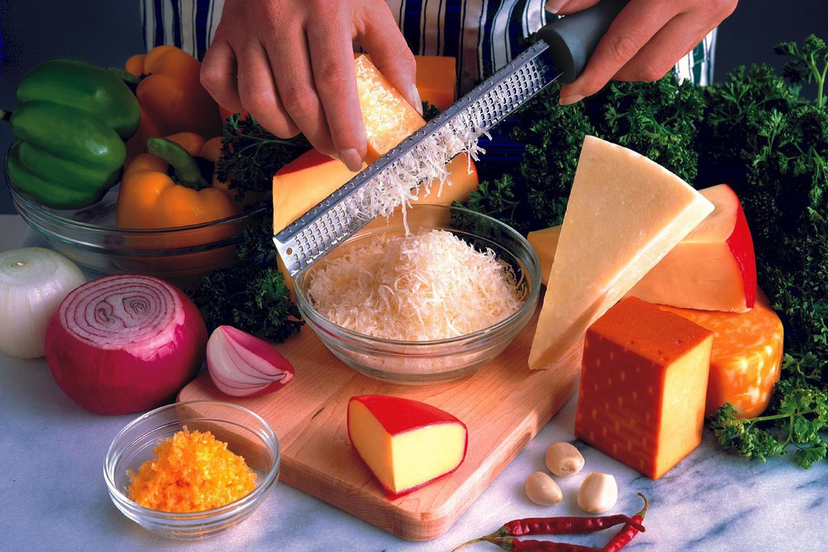A microplane grating cheese