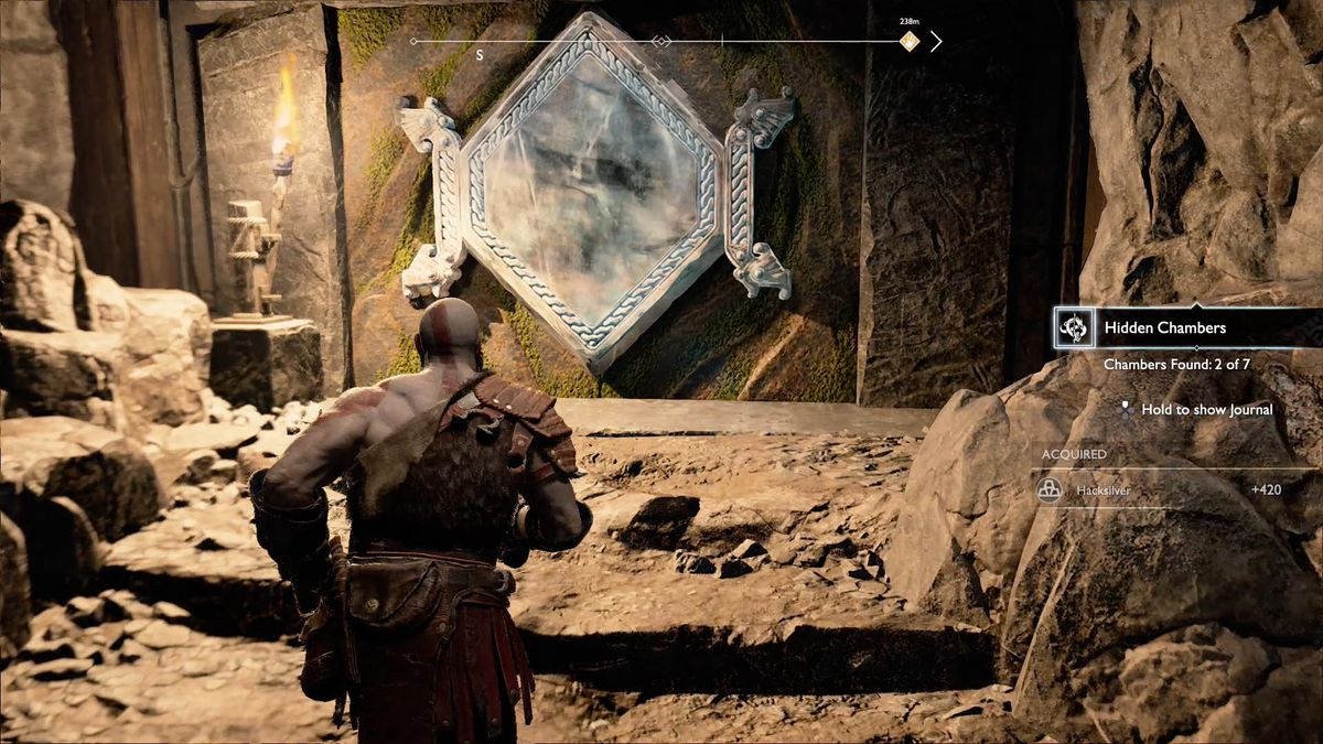God of War - Kratos comes across a mysterious mirrored doorway