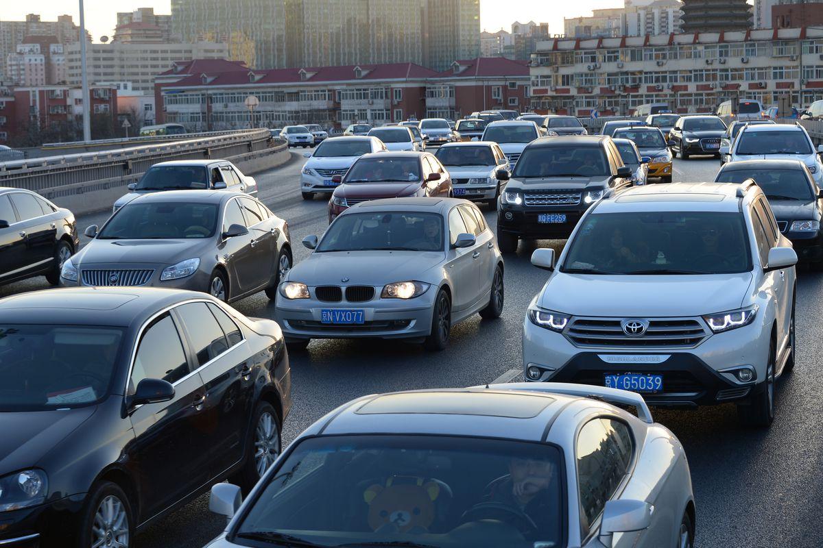 Beijing Encounters Traffic Jam On Christmas Eve