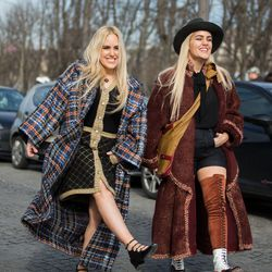 Cailli and Sam Beckerman in Chanel.