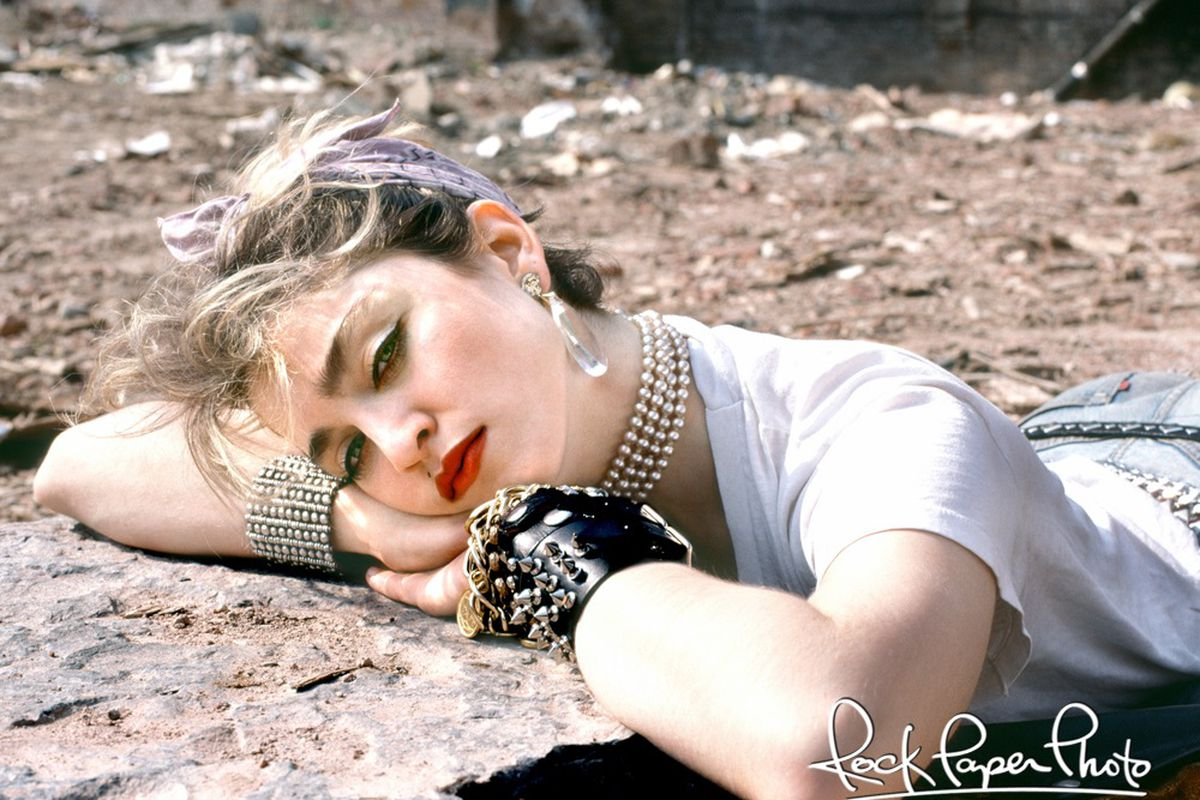 Madonna on the Lower East Side, 1982. By Richard Corman