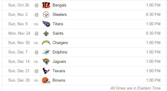 Ravens schedule