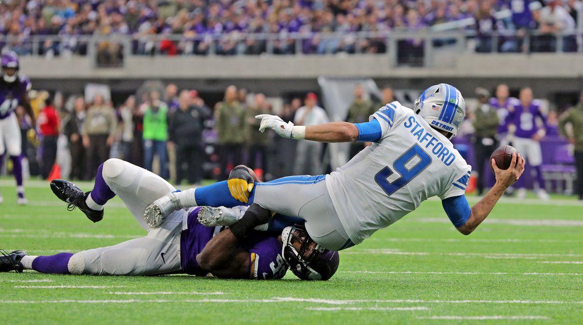 Detroit Lions v Minnesota Vikings. Pure defensive line dominance.
