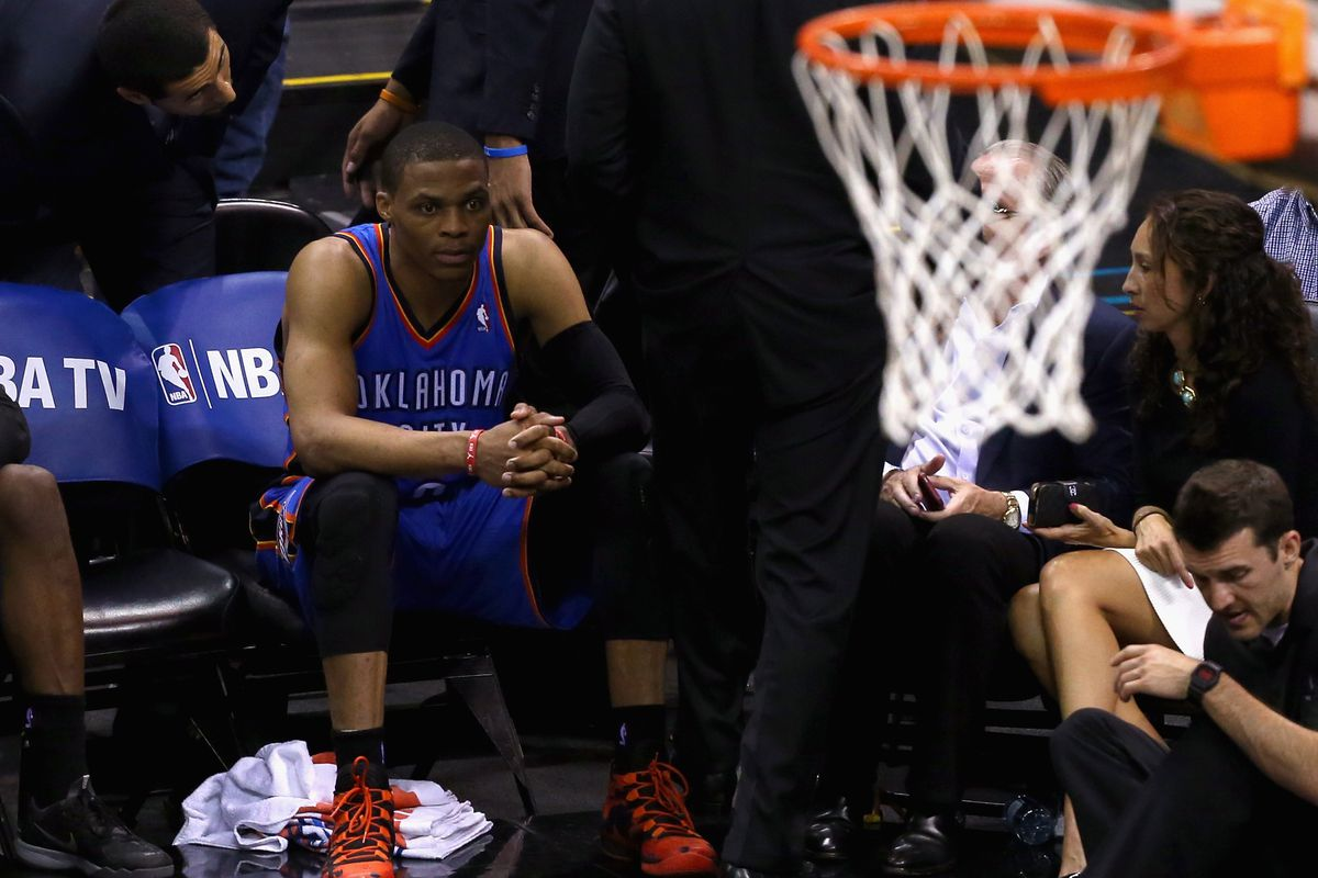 Russell Westbrook considers the game that got away.