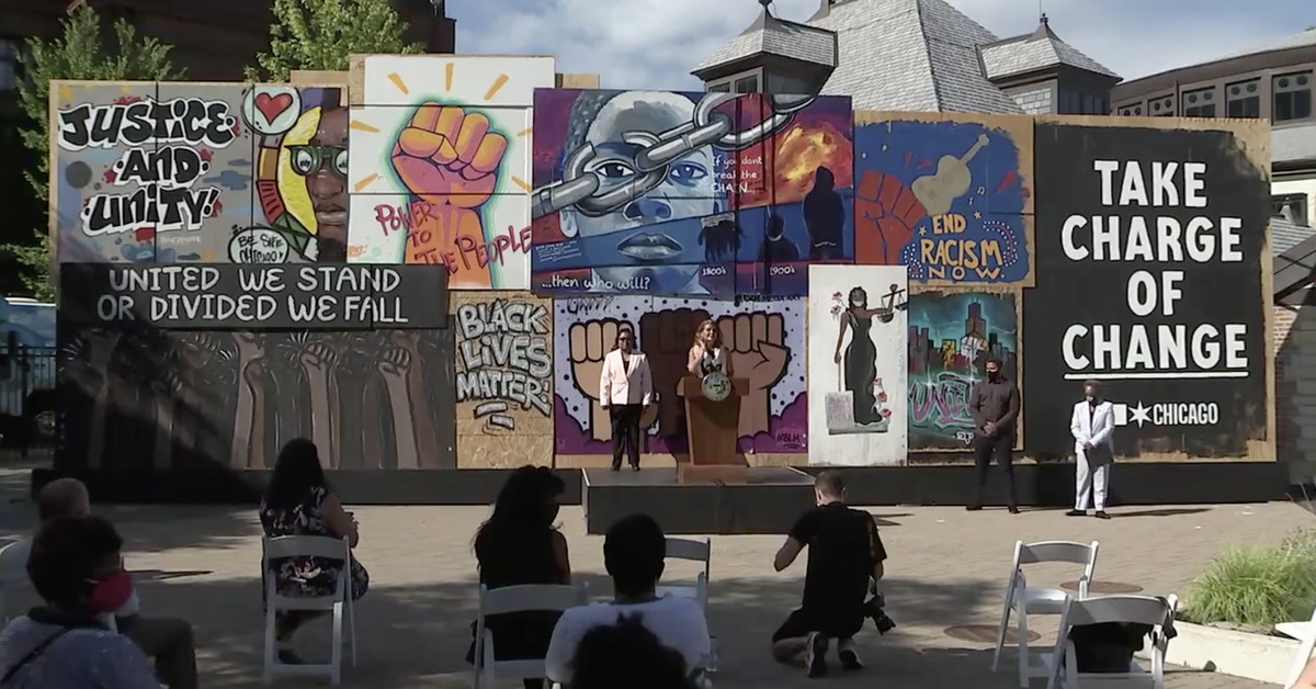 Murals by Paint the City covered windows, now will promote 2020 census - Chicago Sun-Times