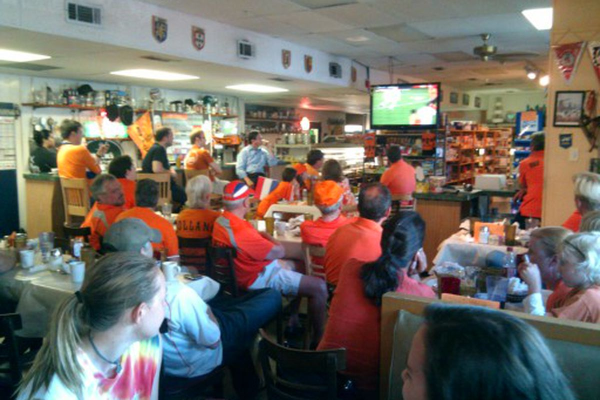 """""""Hup Holland!"""" ... watching from the right place adds a lot to the experience"""