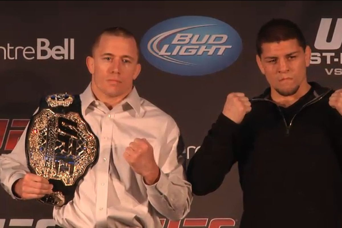 Morning Report Georges St Pierre Laments Nick Diaz Wasting His Best Years Thinks He Could Ve Beaten Tyron Woodley Mma Fighting