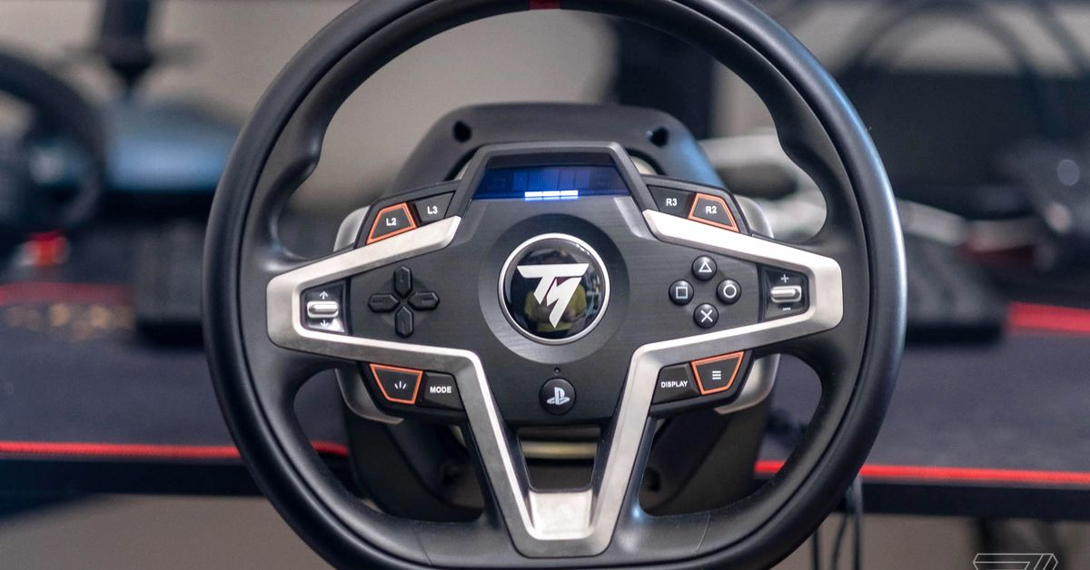 Thrustmaster's T248 is a great PS5 racing wheel