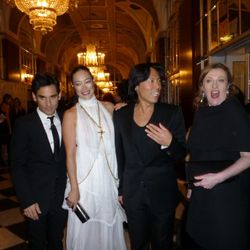 Glenda Bailey (far right) mugs for the camera with Visionaire founders (from left to right) James Kaliardos, Cecilia Dean, Stephen Gan
